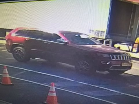 The car that the suspect was driving.