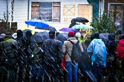 Occupy the Hood meets up in Jamaica, Queens