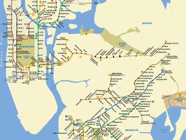 Here S The New Sandy Subway Map Showing Limited Subway Service