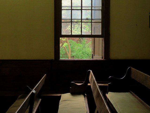 The old Quaker Meeting House in Flushing, Queens
