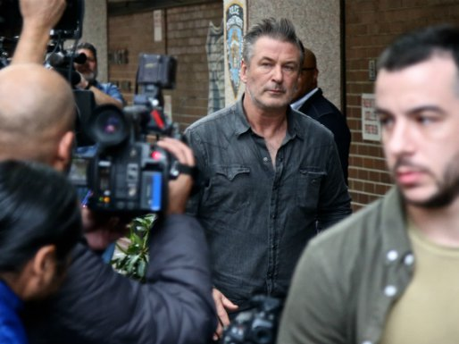 Alec Baldwin leaving the 6th Precinct this afternoon
