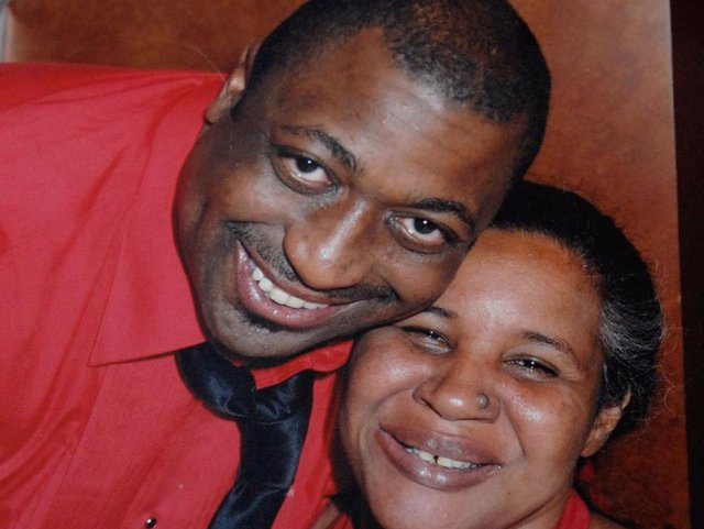 Eric Garner with his wife, Esaw.