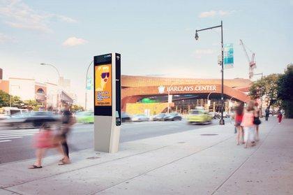 A rendering of a link kiosk in Brooklyn