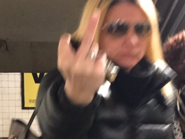 A woman who is allegedly Lushchinskaya during an altercation in a Park Slope subway station on Monday.