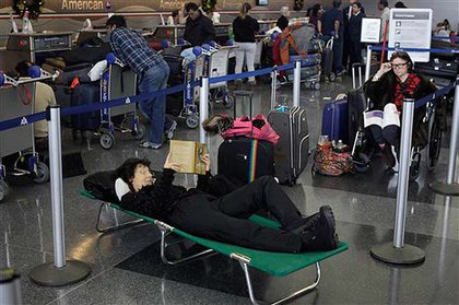 Some travelers got cots at JFK