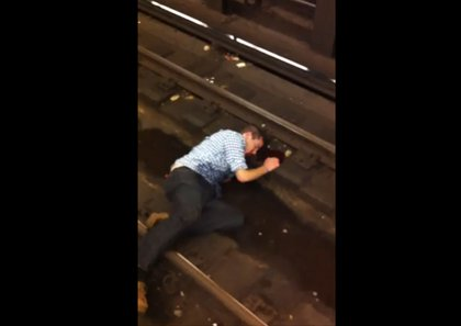 If you saw a drunken, bloodied man in distress lying on the tracks, would you stand there filming him while making light of the situation with your friends? These people did—they took several videos while waiting for MTA to arrive. Most of those videos have been taken down, per the videographers requests, but you can watch one here.