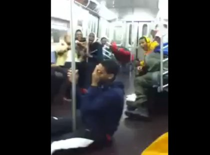 And finally, not all viral subway videos this year depicted fights, acts of human indifference, or shoe licking: at least one was worthy of Hans Moleman.