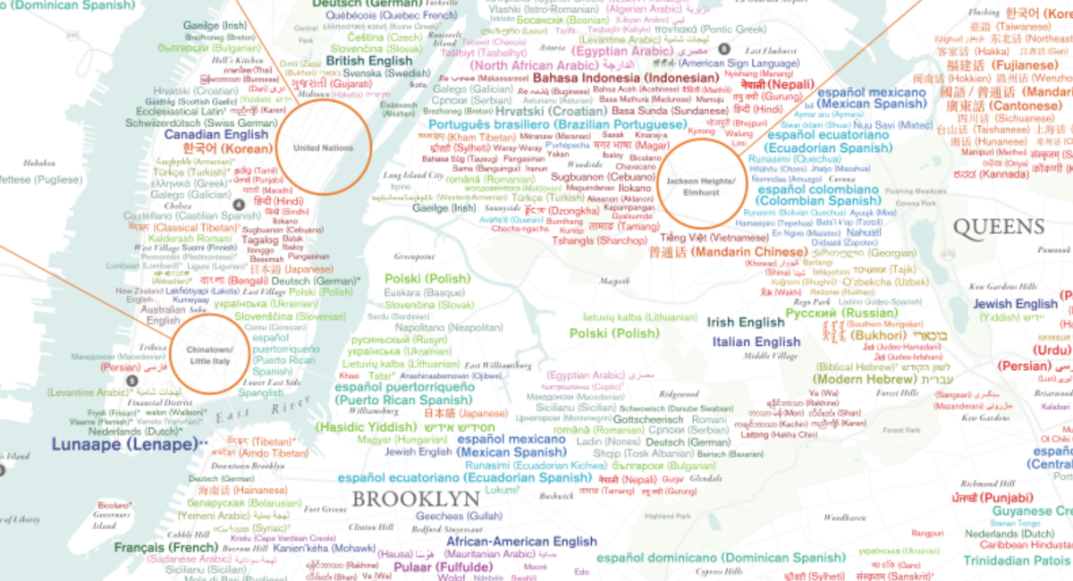 Dazzling Map Shows NYC's Incredible Linguistic Diversity