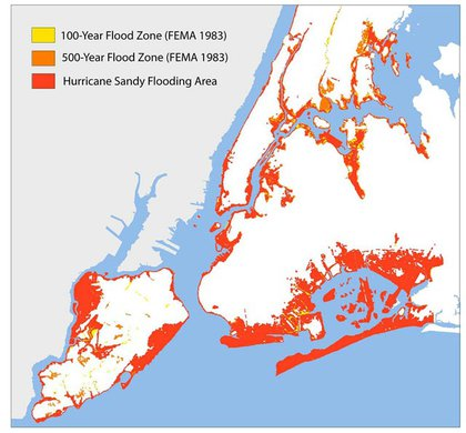 Where Sandy actually caused flooding