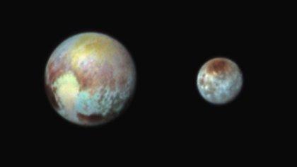 Pluto and Charon. </br>