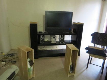 TV stand heroin