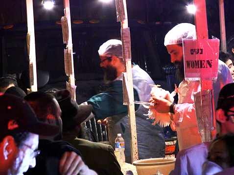Video: Activists & Hasidic Jews Face Off At Ritual Chicken