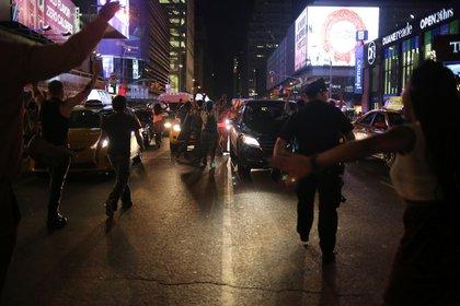 In Times Square (Ellen Moynihan/Gothamist)
