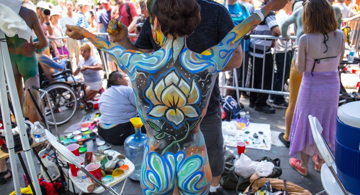 NSFW Photos: Dozens Of Naked People Get Fully Bodypainted