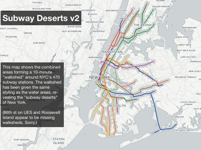 Interactive Map Exposes NYC's Sprawling Subway Deserts ... on