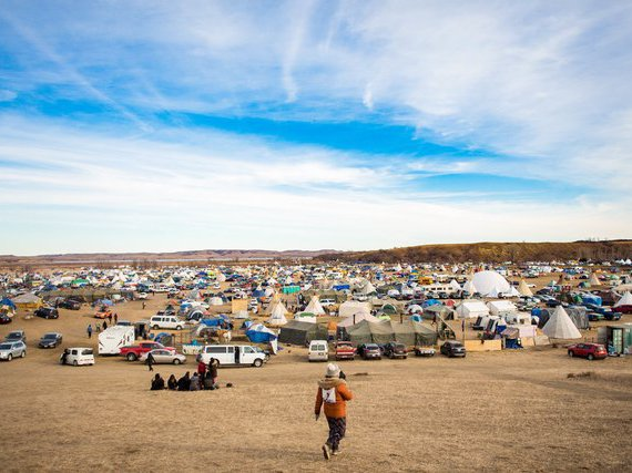 The Oceti Sakowin protest encampment in opposition to the Dakota Access Pipeline swelled to about 4,000 people over the weekend.