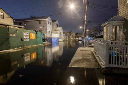 Flooded 6th Road, Broad Channel, Queens<br/>