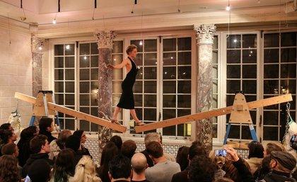 "Eve Bailey's performance art, ""Rising Awareness""<br/>"