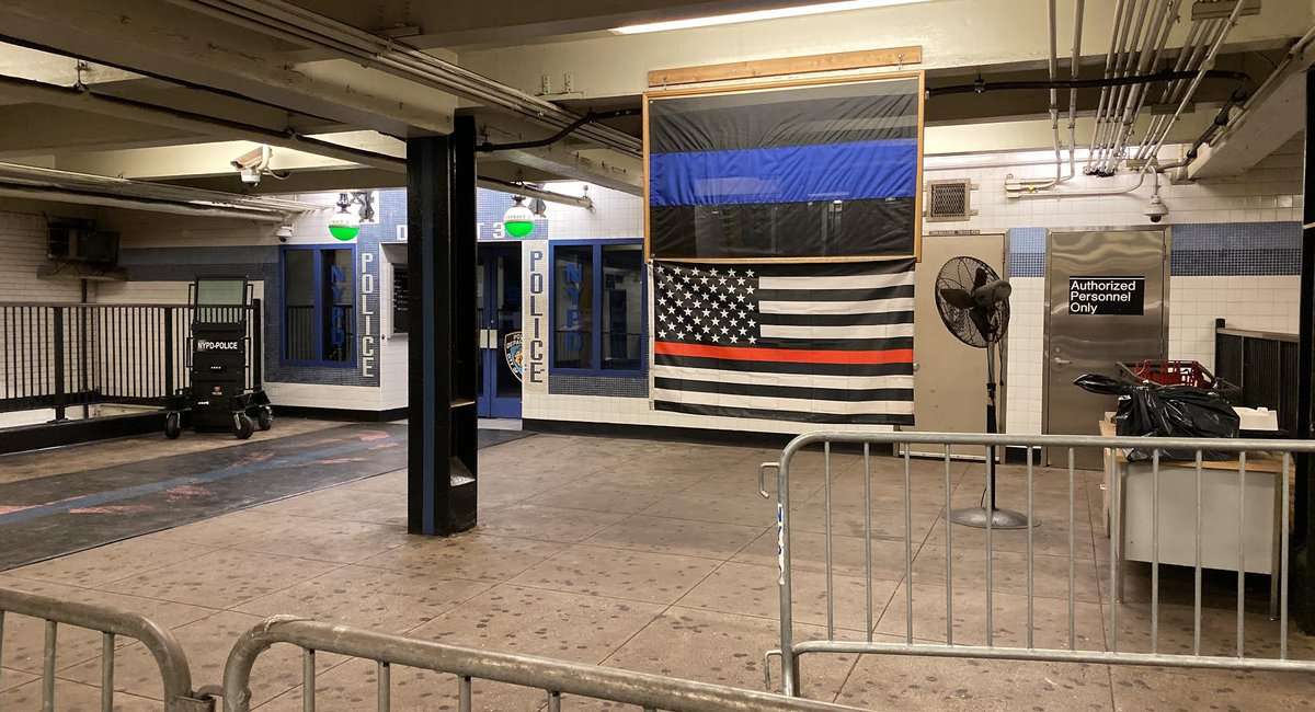 NYPD Flies Another 'Thin Blue Line' Flag, As Mayor Dodges Questions On Controversial Symbol