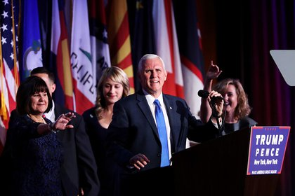 Vice President-elect Mike Pence and his family