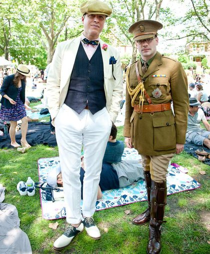 """Hipster Cop at the Jazz Age Lawn Party. (<a href=""""http://flavors.me/gabiporter"""">Gabi Porter</a>)"""