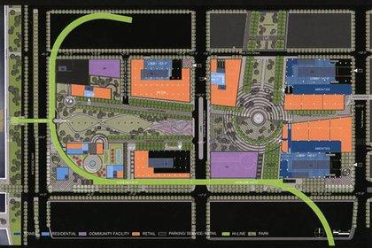 Hudson Yards site plan from Tishman Speyer.