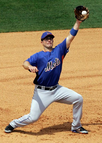 David Wright catches a line drive