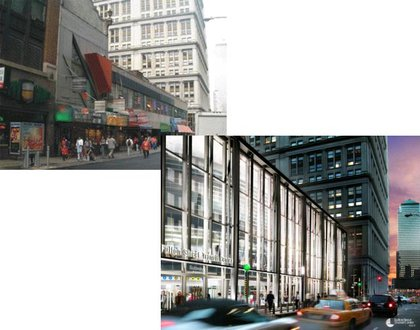 """Right now, the Fulton Street station is one of many entrances on the street.  A new transit center would be a """"clearly visible, well-lit central access point. """""""