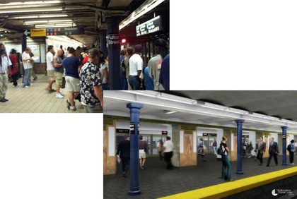 The MTA hopes to alleviate crowding on the platforms.