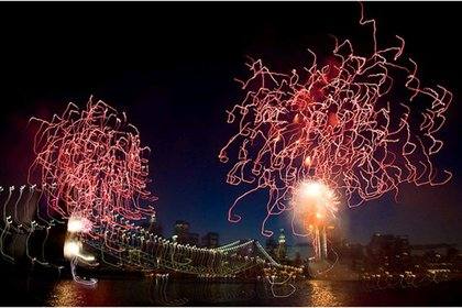 Fireworks as squiggles!
