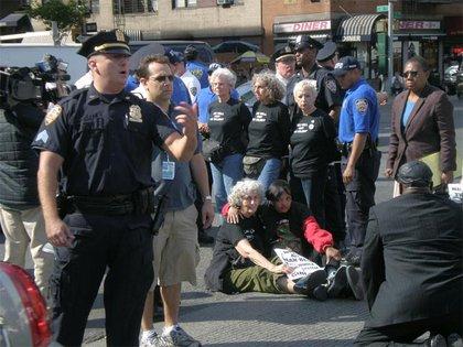 A few women were arrested.