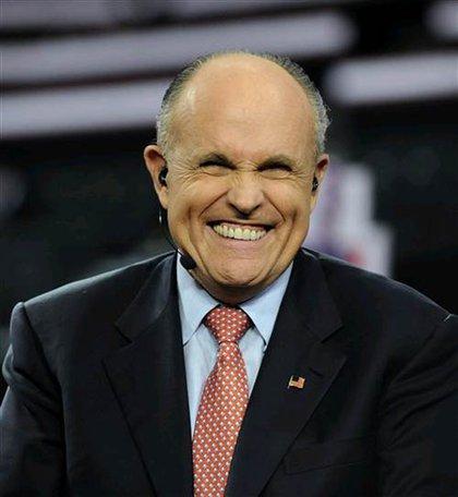 Giuliani's happy face?