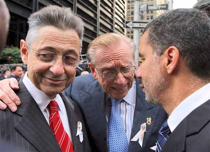 Assembly Speaker Sheldon Silver, WTC developer Larry Silverstein, and Governor David Paterson
