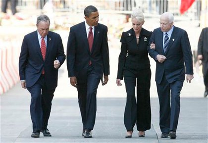 Mayor Bloomberg, Barack Obama, Cindy McCain, John McCain