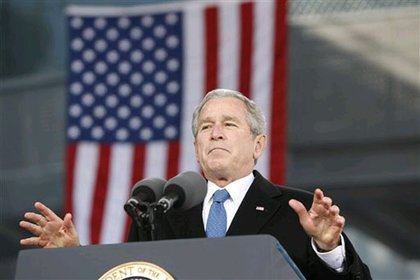 President Bush during his remarks