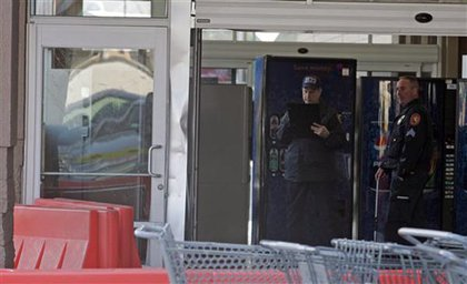 Police investigate the Wal-Mart