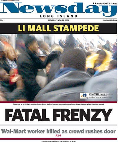 Newsday's cover