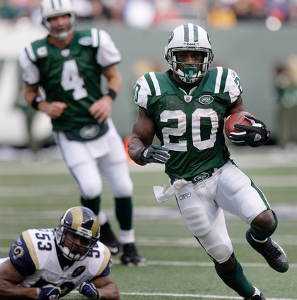 Thomas Jones, leading the AFC in rushing yards and rushing TDs, will make his first Pro Bowl appearance.