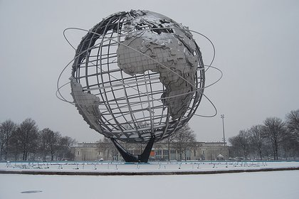 The World's Fair Unisphere, at the Queens Museum