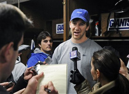 Eli talks to the press