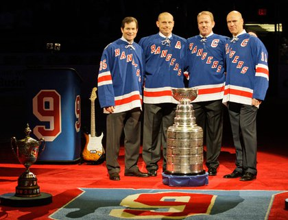 Memories of 1994: From left, Mike Richter, Adam Graves, Brian Leetch and Mark Messier