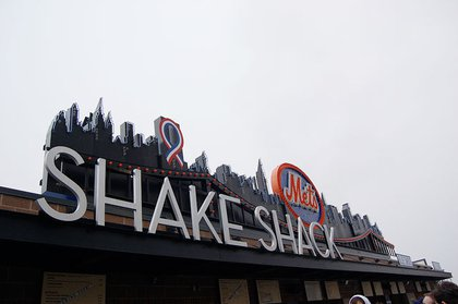 Shake Shack at Citi Field, with NYC skyline