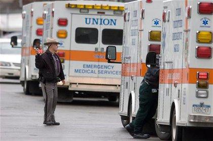 Ambulances arrive