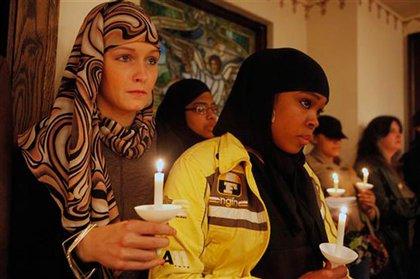 Mourners at a vigil