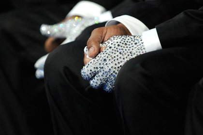 Jackson's brothers wore sequined gloves as a tribute