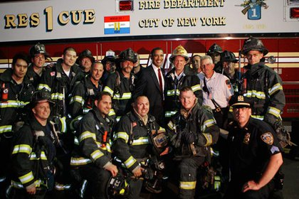 With NYC firefighters
