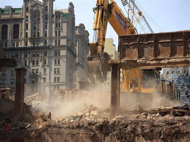 Photograph of the WTC Transportation Hub last month by Joe Woolhead/Silverstein Properties