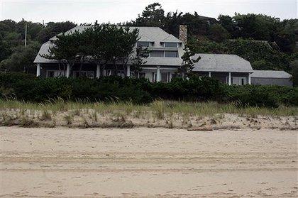 Madoff's beach house; photograph by Robert Mecea/AP