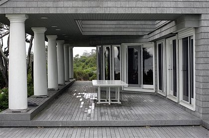 Madoff's porch