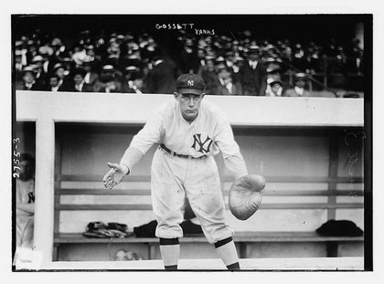 Dick Gossett of the New York Yankees in 1913 at the Polo Grounds.